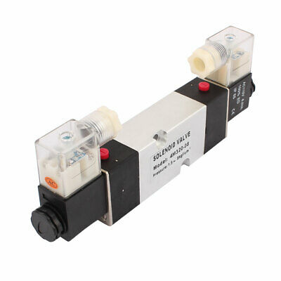 4M320-08 AC 110V 2 Position 5 Way RC1/4 Neutral Air Selector Solenoid Valve