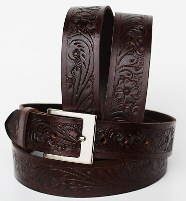 47-48 ProRider Western Heavy Duty Men's Genuine Leather Belt 2639RS01