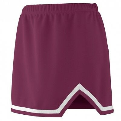 (Small, Maroon/White) - Augusta Sportswear 9125 Women's Energy Skirt