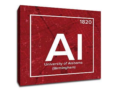 University of Alabama Periodic Table Symbol Art - Gallery Wrapped Canvas