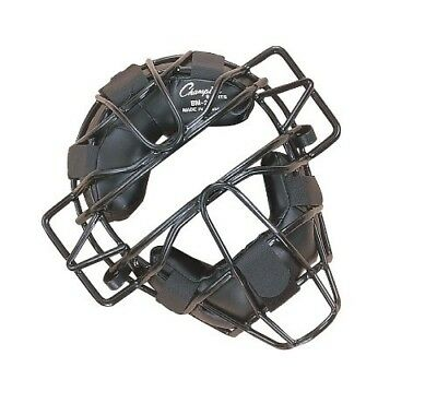 (ADULT, Black) - Champion Sports Extended Throat Guard Adult Catcher's Mask