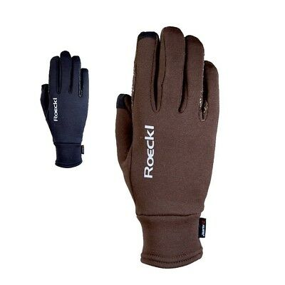 (Navy, 9.5) - Roeckl - Winter Polartec riding gloves WELDON. Delivery is Free