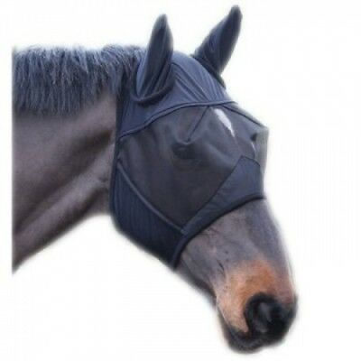 (Extra Full) - Full Face Mesh Fly Mask With Ears - Fleece Padded, Sizes: Small