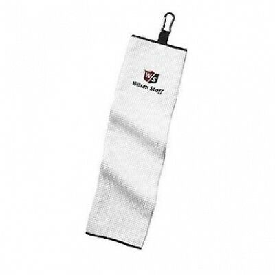 NEW WILSON STAFF TRIFOLD GOLF TOWEL. WHITE. Delivery is Free