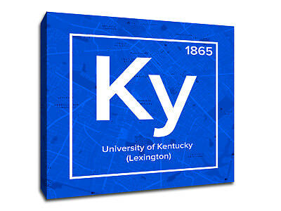 University of Kentucky Periodic Table Symbol Art - Gallery Wrapped Canvas