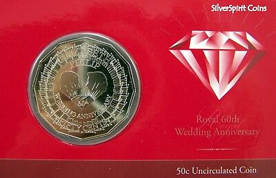 2007 ROYAL DIAMOND WEDDING ANNIVERSARY Coin on Card