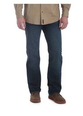 4c0537eb Wrangler Men's Straight Fit Jeans - 4 Way Flex For Comfort 38x30 New With  Tags