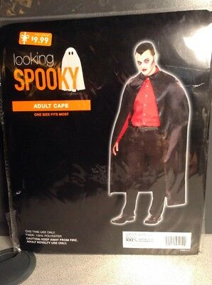 New! Looking Spooky Adult Vampire Cape 100% Polyester Halloween
