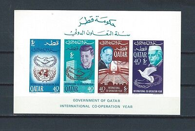 Middle East Qatar Quatar mnh stamp sheet - JFK Kennedy -- see scans