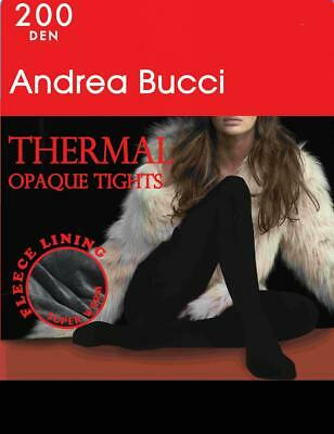 Andrea Bucci by Marie Claire 200 Denier Thermal Tights With Fleece Lining