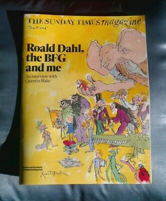 Sunday Times Magazine 050616 Collectors Roald Dahl BFG Quentin Blake Interview