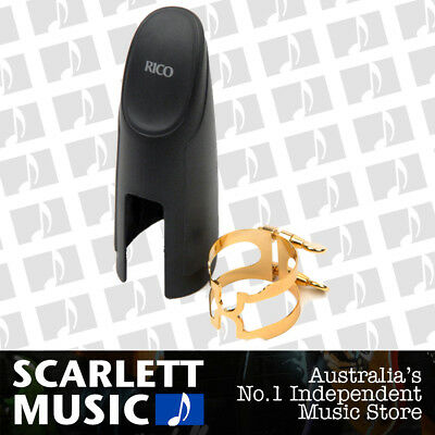Rico Gold Plated Baritone Sax H-Ligature and Cap for Selmer Style Mouthpiece
