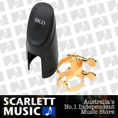Rico HCL1G Gold Plated Bb Clarinet H-Ligature w/ Mouthpiece Cap