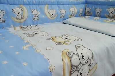 Blue Koala Baby Boy Nursery Bedding Set for Cot/ Cot Bed 100% Cotton