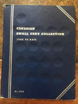 Canadian 37 Small Cents in Vintage Whitman Folder 1920 - 1972
