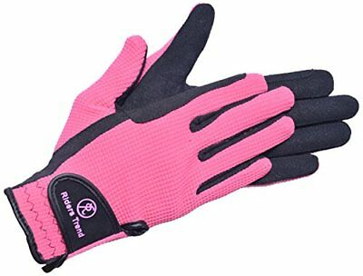 Riders Trend AmaraCotton Horse Equestrian Riding Gloves - BlackPink, X-Small