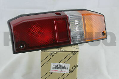 8155190K00 Genuine Toyota LENS, REAR COMBINATION LAMP, RH 81551-90K00