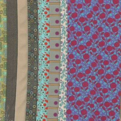 Dress Your Doll Making Couture Fabric Set 8Pc-Soft Tones. Vervaco