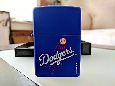 Zippo Windproof Lighter With Los Angeles Dodgers Logo, New In Box