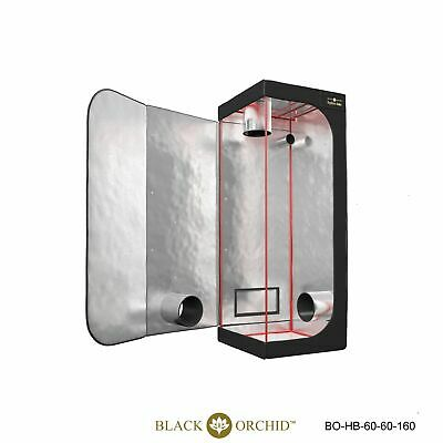 grow tents all sizes indoor hydroponics hydro box BLACK ORCHID room Mylar thick