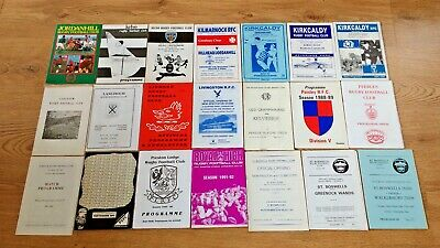 Scottish Club Rugby Union Programmes ' J - Z ' 1964 - 2003