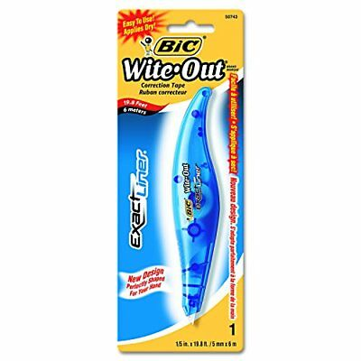 BIC White-Out Exact Liner Correction Tape Pen Non-Refillable 1/5 Inch x 236 I...