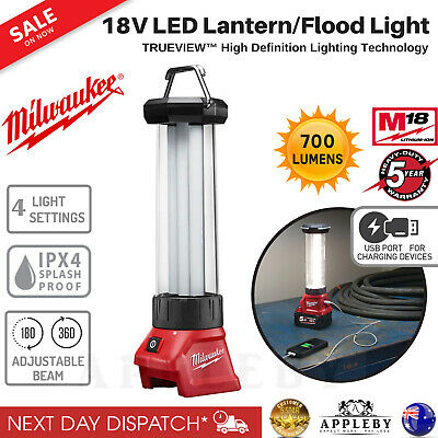 Milwaukee 18V LED Lantern Flood Light Lamp Skin USB Charger Torches M18LL-0