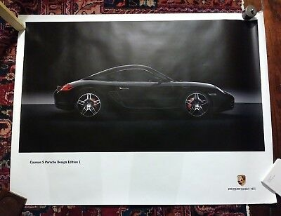 Porsche Cayman S Design Edition 1 Rare Showroom Poster Advertisment Germany