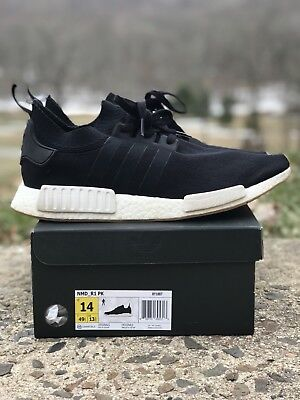cb9b6a945b417 Adidas NMD R1 PK Primeknit Core Black Gum BY1887 Men Running Size 14 Ultra  Boost