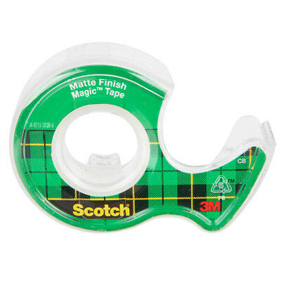 Refillable Dispenser Scotch Magic Tape and Writeable 3/4 x 650 Inches Pack of 6