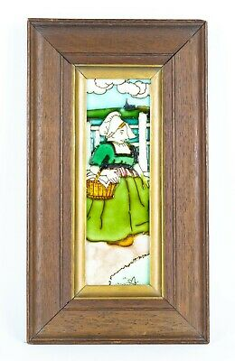 -FREDERICK for CHARLOTTE RHEAD- DUTCH GIRL TUBE-LINED POTTERY WALL TILE PLAQUE