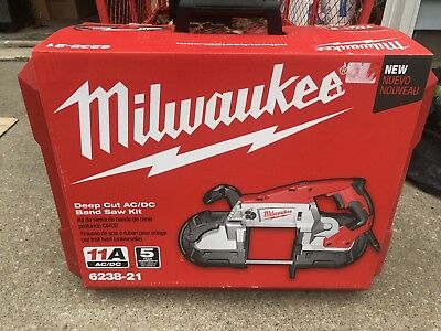 Milwaukee Deep Cut Portable 2-Speed Band Saw with Case 6238-21 New