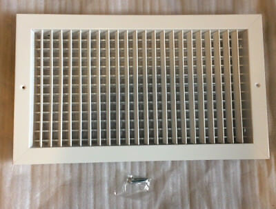 """NEW!! Titus 300RS HVAC Duct Vent 18""""x10"""" Grille Industrial Diffuser Steel White"""