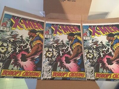 Uncanny X-Men #283 1st Full Appearance of Bishop Three Copies Marvel 1991
