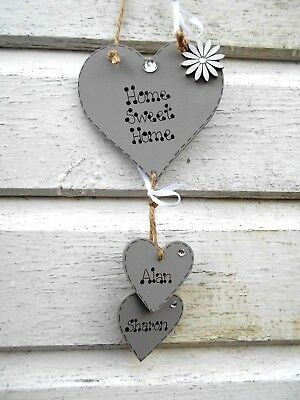 💖💖💖New Personalised Home Sweet Home sign, heart plaque, Valentine gift 💖💖💖