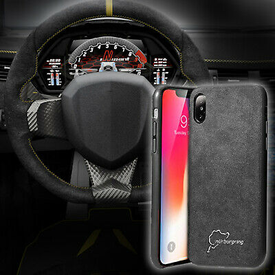 Alcantara Suede Back Case Ultra Thin For Apple iPhone X, Xs, XR, Max, 7/8, Plus
