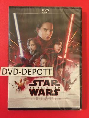 Star Wars Episode VIII  The Last Jedi DVD ***AUTHENTIC READ*** New Free Sihpping