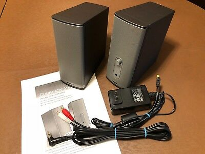 Bose Companion 2 Series II Computer Multimedia Speakers w/AC Adapter, Manual