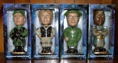 Stargate Sg-1 Hand Painted Bobble Head Complete Set.  Nib.  Limited To 1000