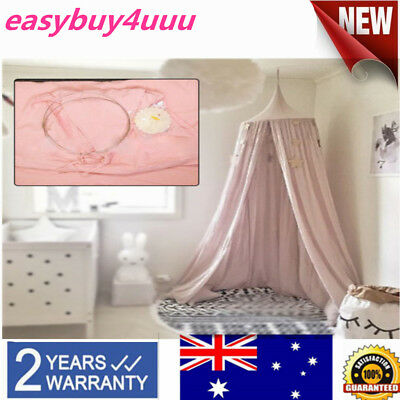Playing Tent Bed Canopy Bedcover Mosquito Net Curtain Bedding Round Dome Tent AU