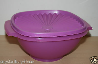 Tupperware Classic Servalier Salad  Bowl Container 8 cup Mulberry New