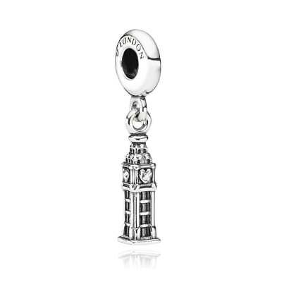 Authentic Pandora Sterling Silver London Big Ben Charm Beads 791080 *RETIRED*