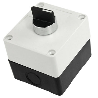 On Off On 3 Positions NO Plastic Shell Rotary Push Button Switch AC 240V 3A