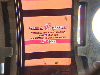 35mm movie film ad TRASH AND TREASURE FLEA MARKET Australian cinema commercial