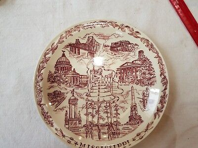 Red Mississippi Vernon Kilns Collector Plate