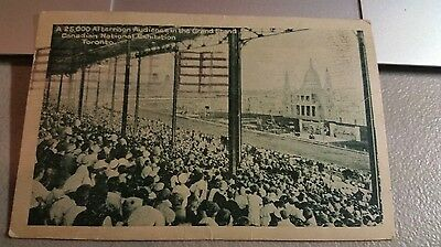 """Postcard """" Canadian National Exhibition Race Audience Grandstand """" Toronto 1927"""