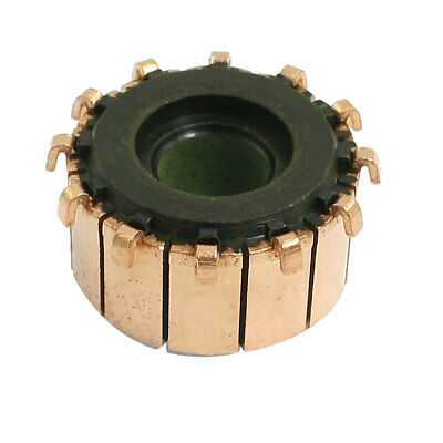 8.1mm x 21.5mm x 12mm 12 Tooth Copper Shell Mounted On Armature Commutator