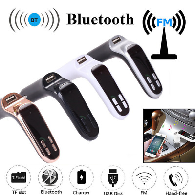 Car Bluetooth Wireless FM Transmitter LCD USB Charger Player MP3 Handsfree Kit