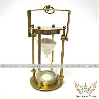 marine brass hanging sand timer antique vintage office,home decor nautical item