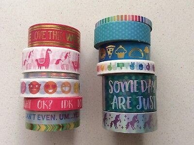 Recollections Washi Tape EMOJI UNICORN LLAMA 13 rolls washi tape, planner